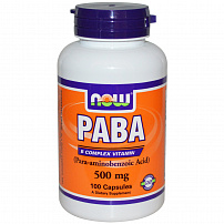 NOW PABA 500 мг 100 капс